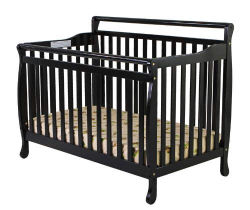 Dream On Me Liberty Collection 4 In 1 Crib, Black front-1017349