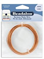 Beadalon German Style Round Wire Copper 22 Gauge, 10-Meter by Beadalon