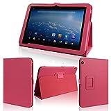 wisers タッチペン・保護フィルム付 東芝 Toshiba Android (TM) タブレット A204YB Yahoo! BB 専用モデル 専用 ケース カバー ピンク