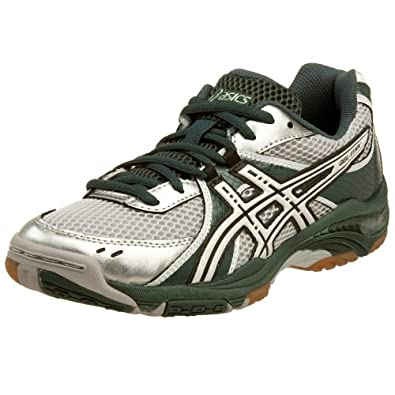 ASICS Women's GEL-1130V Volleyball Shoe,Forest/White/Silver,7 B US