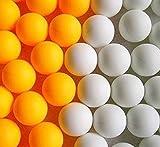 卓球 ピンポン玉 オレンジ・ホワイトボール 100・150個選べる。 国際標準 40mm 練習 トレーニング用 パーティー イベント用 としても (オレンジ100)