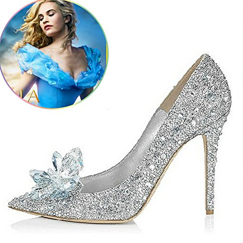 Cinderella Movie 2015 The Glass Slipper Princess Crystal Shoes Adult Size