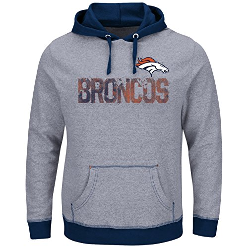 "Denver Broncos Majestic NFL ""Gameday"" Men's Pullover Hooded SweatShirt Camicia"