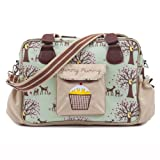 Yummy Mummy Stylish Nursery Changing Bag Colour Woodland - Includes Travel Changing Mat Cupcake Design Luxury Baby Bag