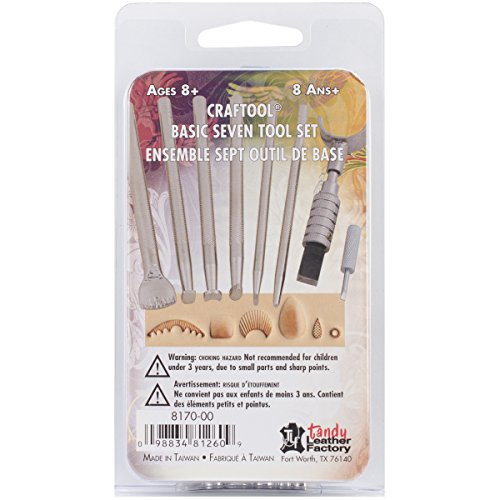 Tandy Leather Factory Basic 7 Tool Set (Leather Tooling Kit compare prices)