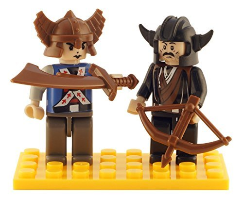 Brictek 2 Piece Viking Figure Set
