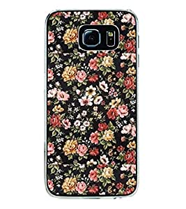 Flowers Pattern 2D Hard Polycarbonate Designer Back Case Cover for Samsung Galaxy S6 Edge+ :: Samsung Galaxy S6 Edge Plus :: Samsung Galaxy S6 Edge+ G928G :: Samsung Galaxy S6 Edge+ G928F G928T G928A G928I