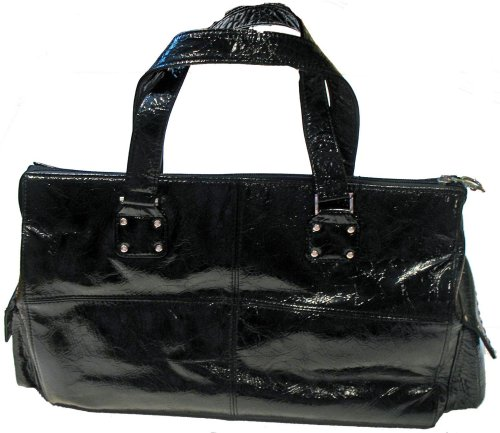 Junior Drake Nikko Silver Stud Purse (Black)