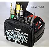 The Bit Pouch a Tough Magnetic Bit and Screw Bag for Your Drill & Impact Driver (Color: Black, Tamaño: 1 PACK)