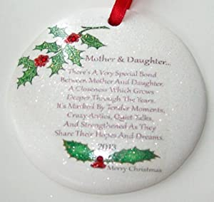 Amazon.com - Mother & Daughter 2014 Porcelain Christmas ...