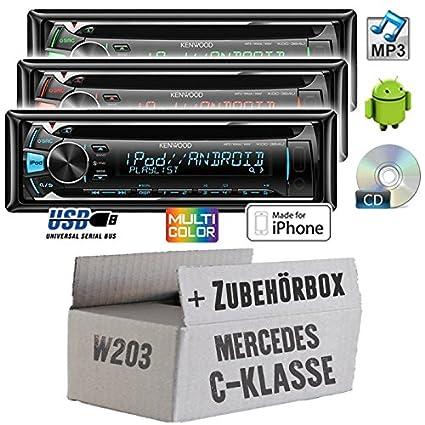 Mercedes classe c w203 modèle kenwood kDC - 364U-cD/mP3/uSB avec kit de montage