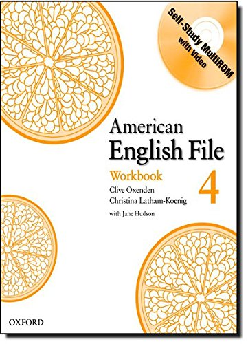 American English File Level 4: Workbook with Multi-ROM Pack (American English File First Edition)