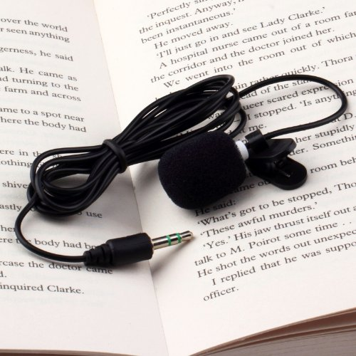 Portable Mini 3.5Mm Tie Lapel Lavalier Clip Microphone For Lectures Teaching