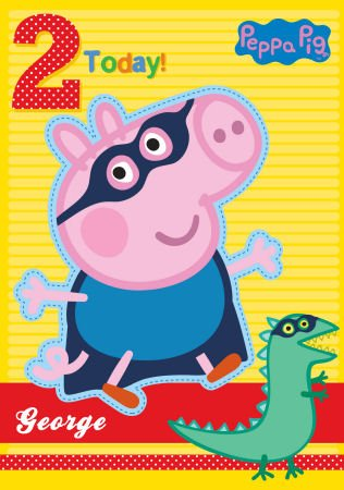 Peppa Pig George 2 Birthday Card
