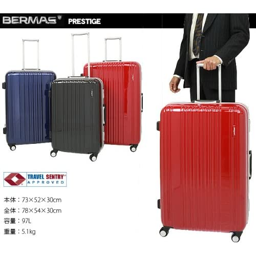 [バーマス]BERMAS スーツケース キャリーバッグ 4輪キャスター 97L TSAロック (レッド)