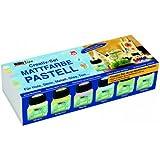 Hobby Line 75615 - Acryl- Mattfarben Set Pastellfarben 6 x 20 ml
