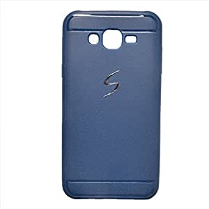 iCandy™ Leather Finish Soft Back Cover For Samsung Galaxy J5 - Blue