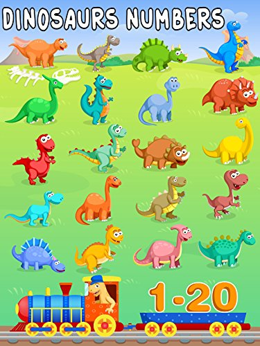 Dinosaurs Learning Numbers Counting from 1-20