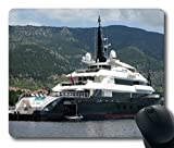 Photography Alfa Nero Yacht Non-Sneak away Rubber Gaming Mouse Pad Size 9 Inch(220mm) X 7 Inch(180mm) X 1/8(3mm)