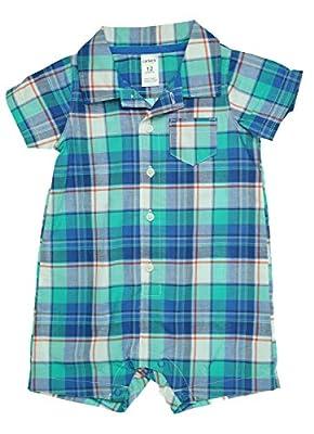 Carter's Baby Boys' Check Romper (Baby)