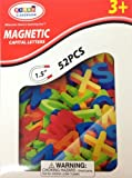 Magnetic Uppercase Capital Alphabet Letters 52 pcs - 1.5 inches
