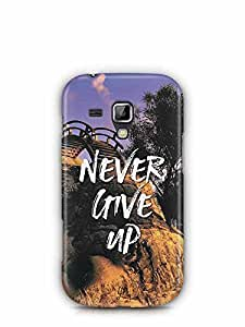 YuBingo Never Give Up Designer Mobile Case Back Cover for Samsung Galaxy S Duos 2