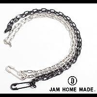 【JAM HOME MADE(ジャムホームメイド)】Mピン長あずきチェーンダイヤモンドネックレス