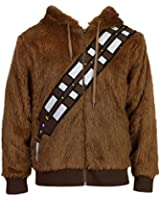 Star Wars Chewbacca Faux Fur Adult Brown Costume Zip Up Sweatshirt