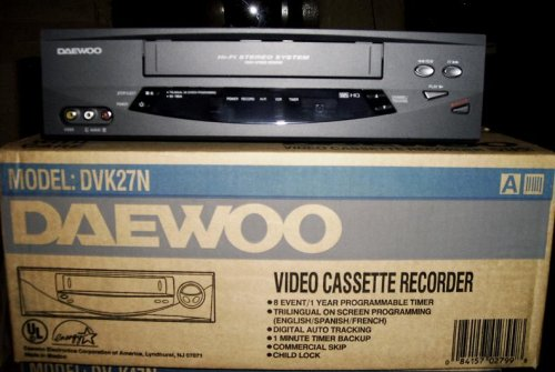 Daewoo Vcr Player Video Player Recorder Vcr Vhs 4 Head Price Dung148aa