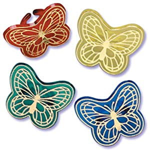 Dress My Cupcake DMC41BF-RSET Golden Butterfly Jewel Ring Decorative Cake Topper, Spring, Assorted, Case of 144
