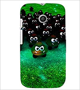 PrintDhaba Scary Smilies D-3903 Back Case Cover for MOTOROLA MOTO E (Multi-Coloured)