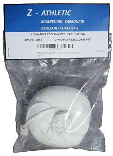 Z-Athletic Refillable Chalk Ball for Gymnastics, Climbing, and Weight Lifting Gymnastics Socks