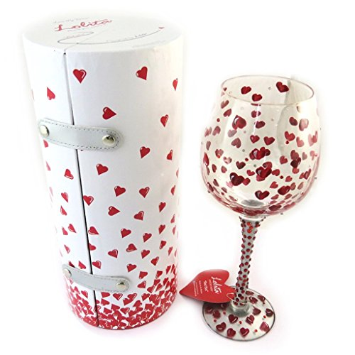Lolita Super Bling Collection Red Hot Wine Glass