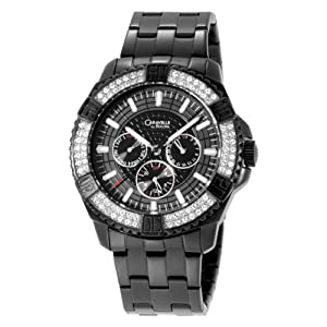 Caravelle By Bulova Men'S 45C002 Crystal Accented Black Dial Watch