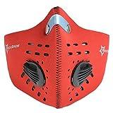 ROCKBROS(ロックブロス) サイクリング フェイスマスク ネオプレン素材 サイズL(レッド,)