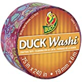Duck Brand Washi Crafting Tape, 0.75-Inch by 240-Inch Roll, Single Roll, Flirty Floral (282678-S)