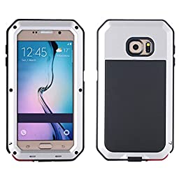 I3C Waterproof Shockproof Aluminum Gorilla Glass Metal Case Cover For Samsung Galaxy S6 - Silver