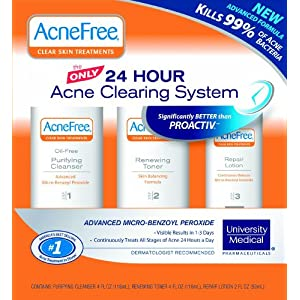 AcneFree obvious complexion System, 3-Step package deal (Purifying Cleanser, Renewing Toner, restoration Lotion)
