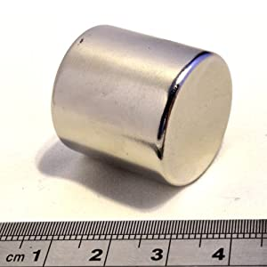 """POWER MAGNET STORE 1"""" Dia x 1"""" Thick (25mm) Neodymium Neo Rod Magnet. Super Strong Pull approx 25Kg Disc Round"""