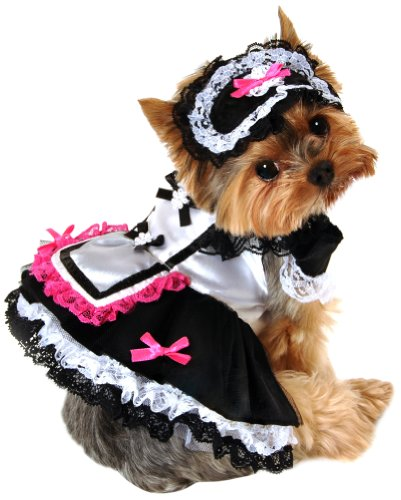 anit accessories 12 inch french maid dog costume small - Halloween Costume For Small Dogs