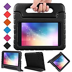 Samsung Galaxy Tab A 7.0 inch Kids Case - BMOUO Shock Proof Case Light Weight Kids Case Super Protection Cover Handle Stand Cover for Kids Children for Samsung Galaxy TabA 7-inch Tablet - Black