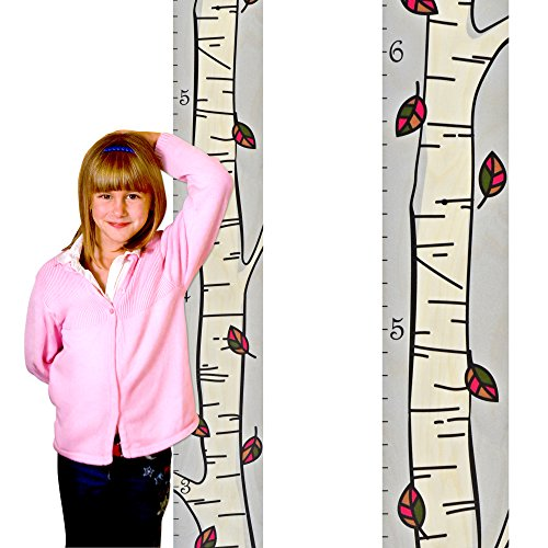 The Mod Birch Tree Growth Chart Modern Height Chart - Single Birch