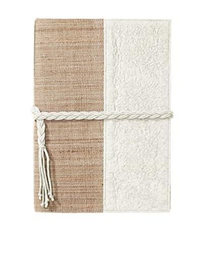 Marina Vaptzarov Medium Vegetal Leather & Nettle Fabric Sketchbook, White