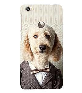 EPICCASE Dog in suit Mobile Back Case Cover For LeEco Le 1s Eco (Designer Case)