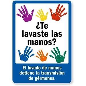 Te lavaste las manos? El lavado de manos detiene la transmisión de