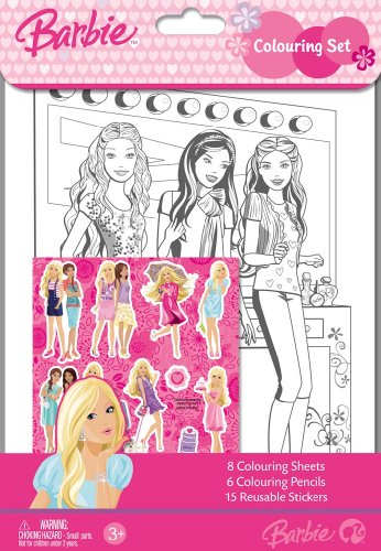 Barbie Colouring Set