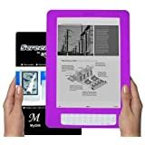 Amazon Kindle DX 9.7 inch E-Book Reader (PURPLE) Silicone Skin Rubber Case + LCD Screen Protector ~ MyGift