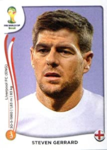 2014 Panini World Cup Soccer Sticker # 307 Steven Gerrard Team England by Panini