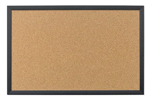 U Brands Cork Bulletin Board, 35 x 23 Inches, Black Wood Frame