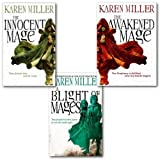 Karen Miller Karen Miller Kingmaker, Kingbreaker Collection 3 Books Set, (The Innocent Mage:,The Awakened Mage: & A Blight Of Mages)